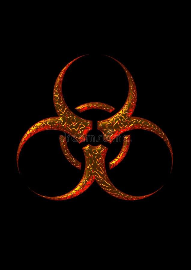символ biohazard иллюстрация штока