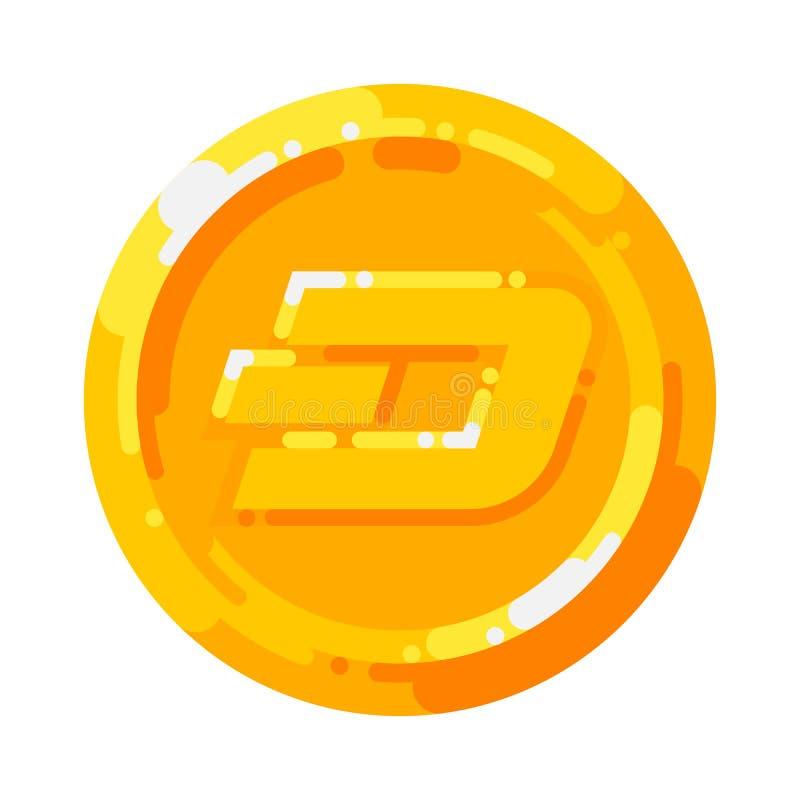 Символ blockchain валюты золотой монетки черточки секретный изолированный на белой предпосылке бесплатная иллюстрация
