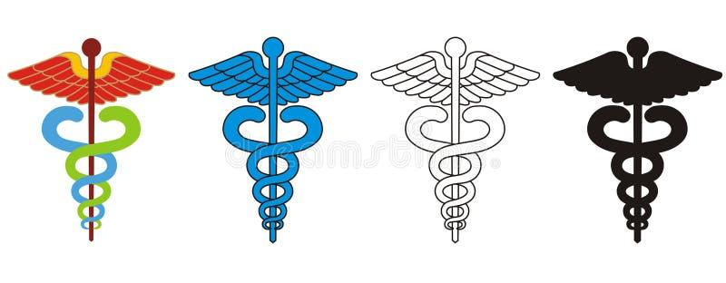 символ caduceus медицинский иллюстрация штока