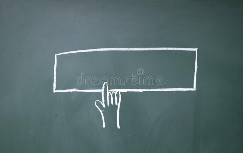 Символ click перста стоковое фото