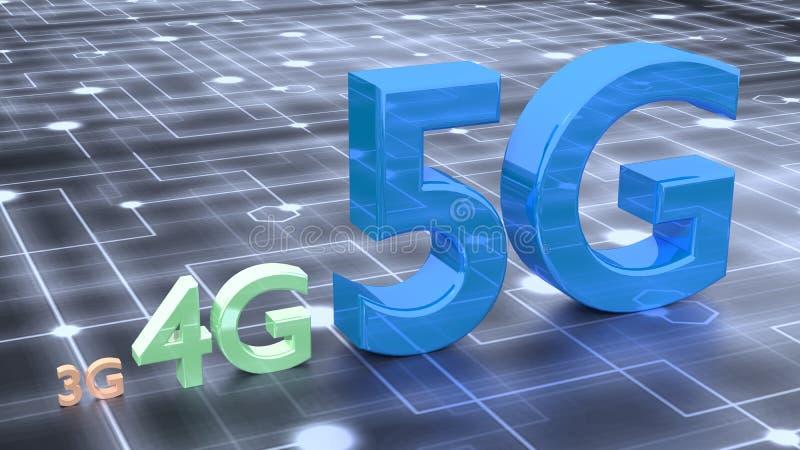 символ 5G на поверхности сети стоковое изображение