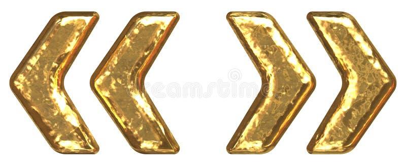 символ quotes купели золотистый иллюстрация вектора
