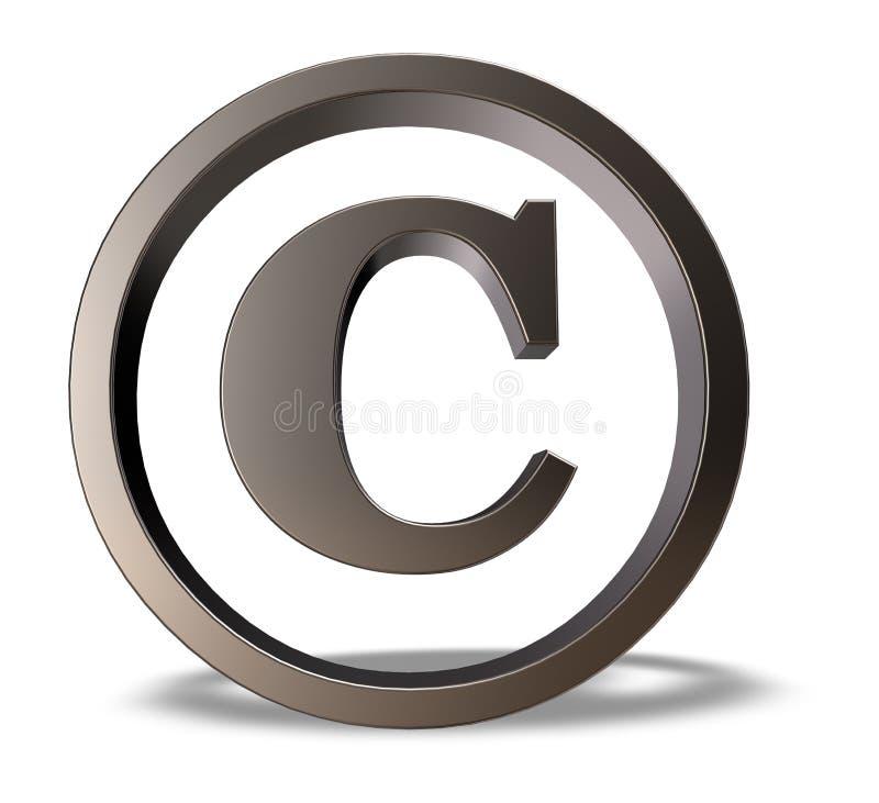 Символ авторского права иллюстрация штока