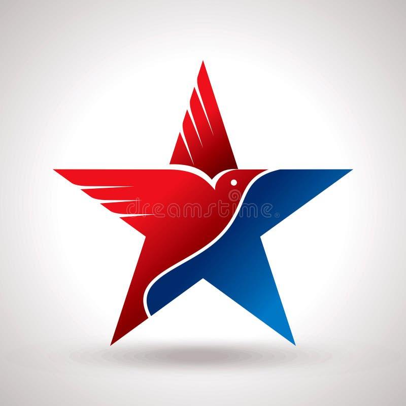 Символ американского флага и орла иллюстрация штока