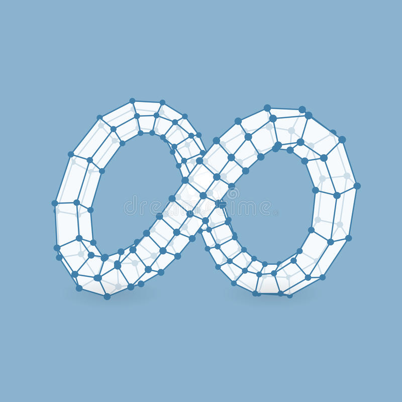 Символ безграничности Смогите быть использовано как элемент дизайна бесплатная иллюстрация