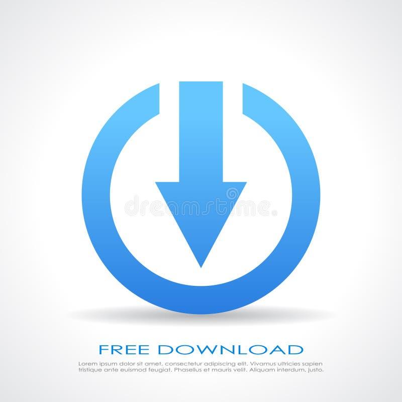Символ бесплатной загрузки бесплатная иллюстрация