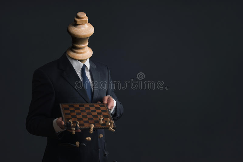 Символ бизнесмена который уволит его штат стоковая фотография rf