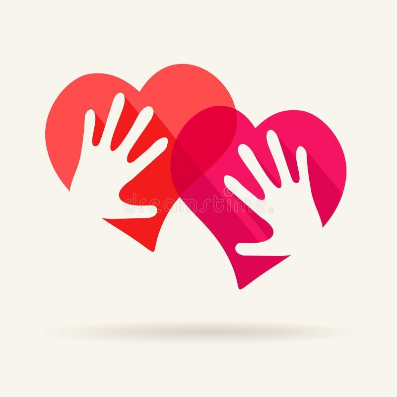 Download Символ вектора влюбленности Иллюстрация вектора - иллюстрации насчитывающей руки, плоско: 40589265