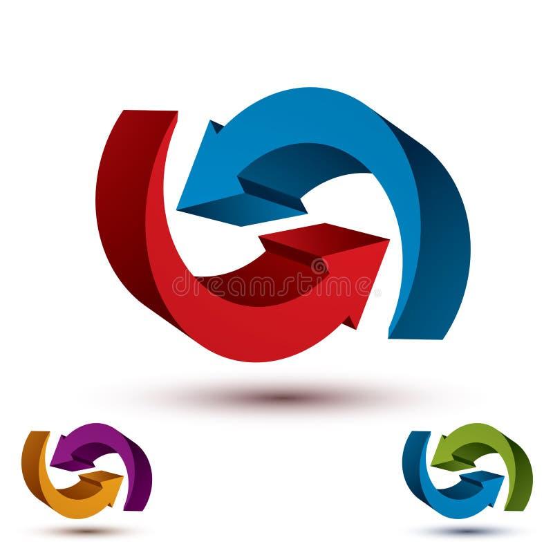 Символ вектора стрелок бесконечного цикла абстрактный, график иллюстрация штока