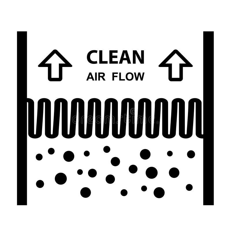 Символ влияния воздушного фильтра иллюстрация вектора