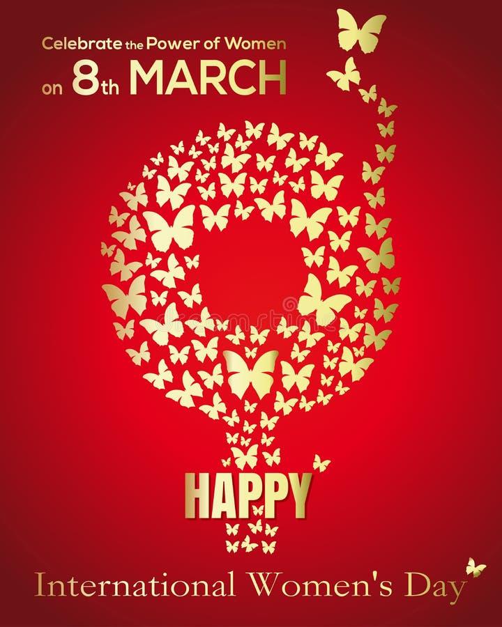 Символ женщины рода Карточка Международного женского дня бесплатная иллюстрация