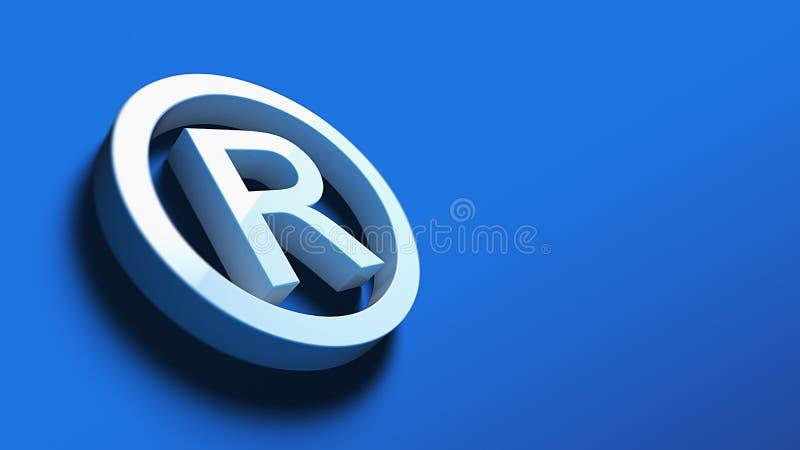 Символ зарегистрированной торговой марки иллюстрация вектора