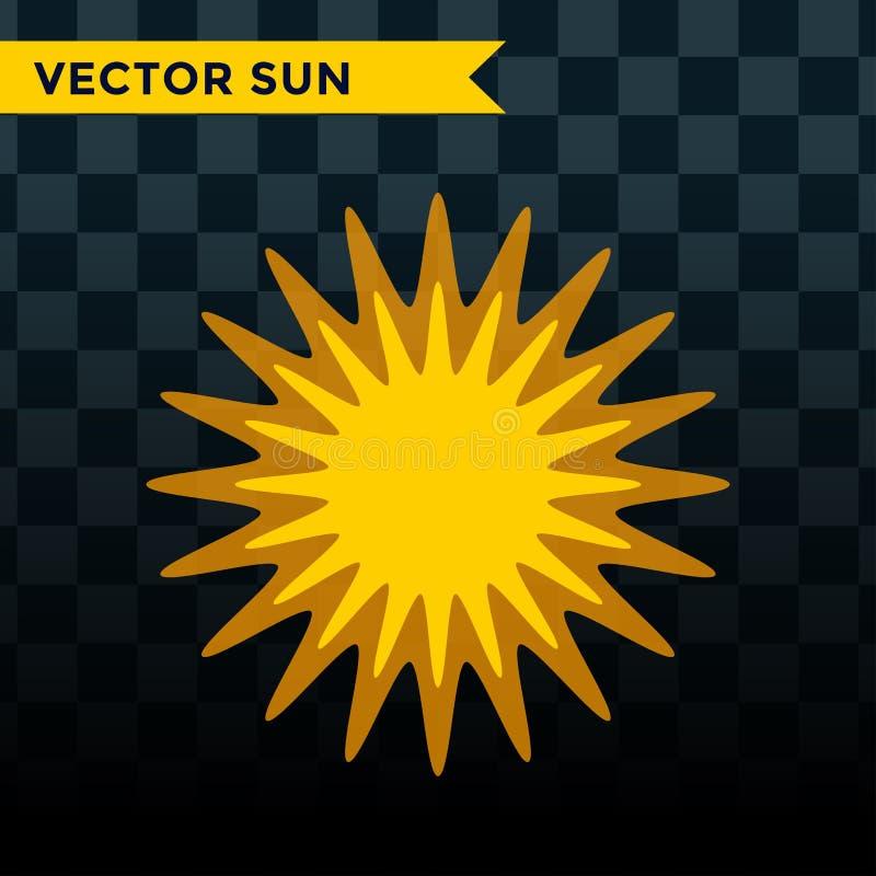 Символ знака восхода солнца искры солнечного луча солнечного света блеска природы лета иллюстрации вектора значка звезды взрыва С бесплатная иллюстрация