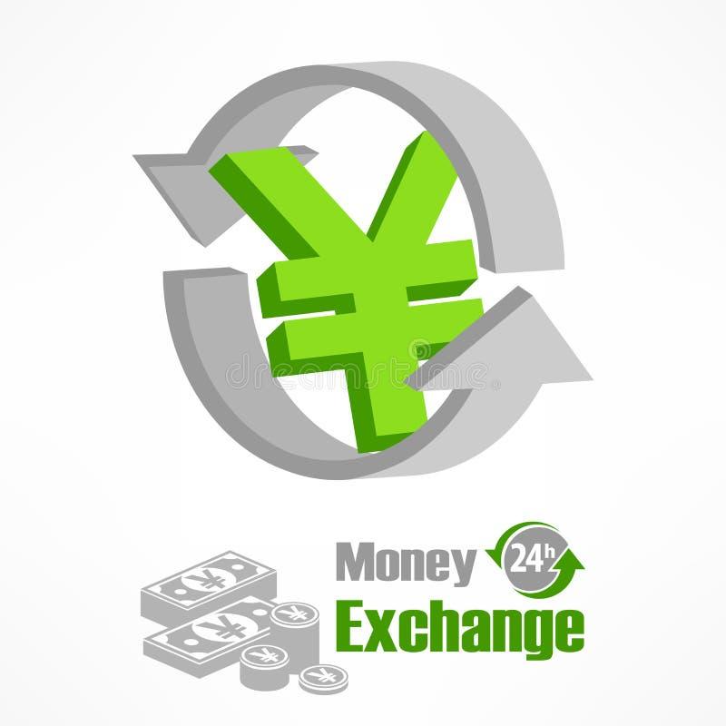 Символ иен в зеленом цвете бесплатная иллюстрация