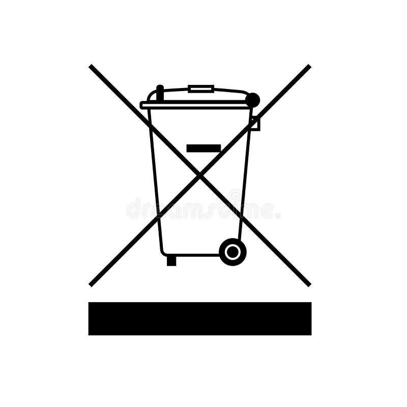 Символ директивы WEEE Ненужная директива электрических и радиотехнической аппаратуры иллюстрация вектора