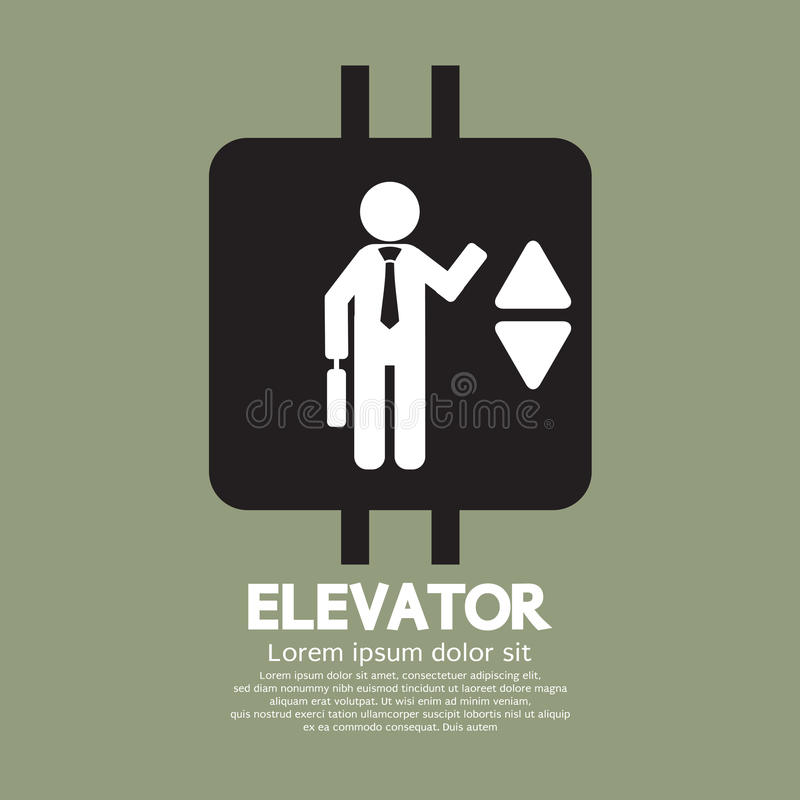 Символ лифта графический иллюстрация вектора