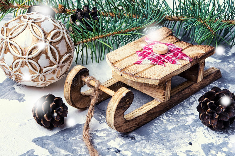 Символические сани рождества стоковые изображения