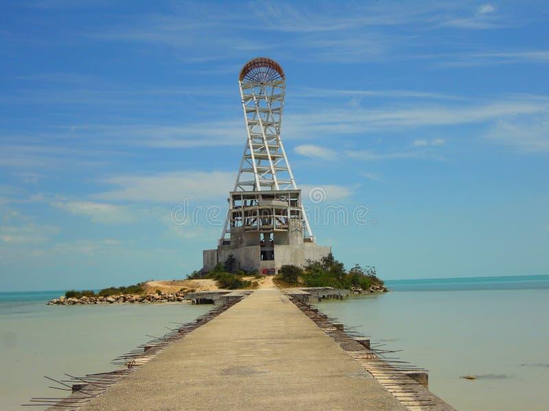 Download Символ и ориентир ориентир архитектуры маяка лета пляжа Chetumal Мексики Стоковое Изображение - изображение насчитывающей baxter, мемориально: 40577757