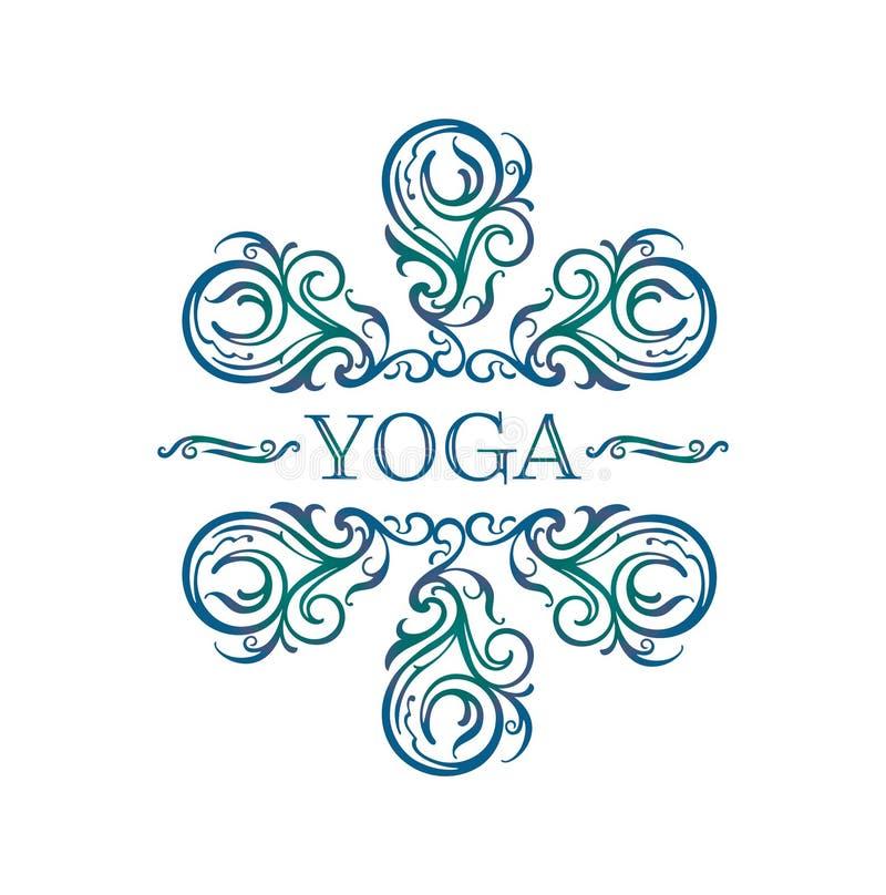 Символ йоги иллюстрация вектора