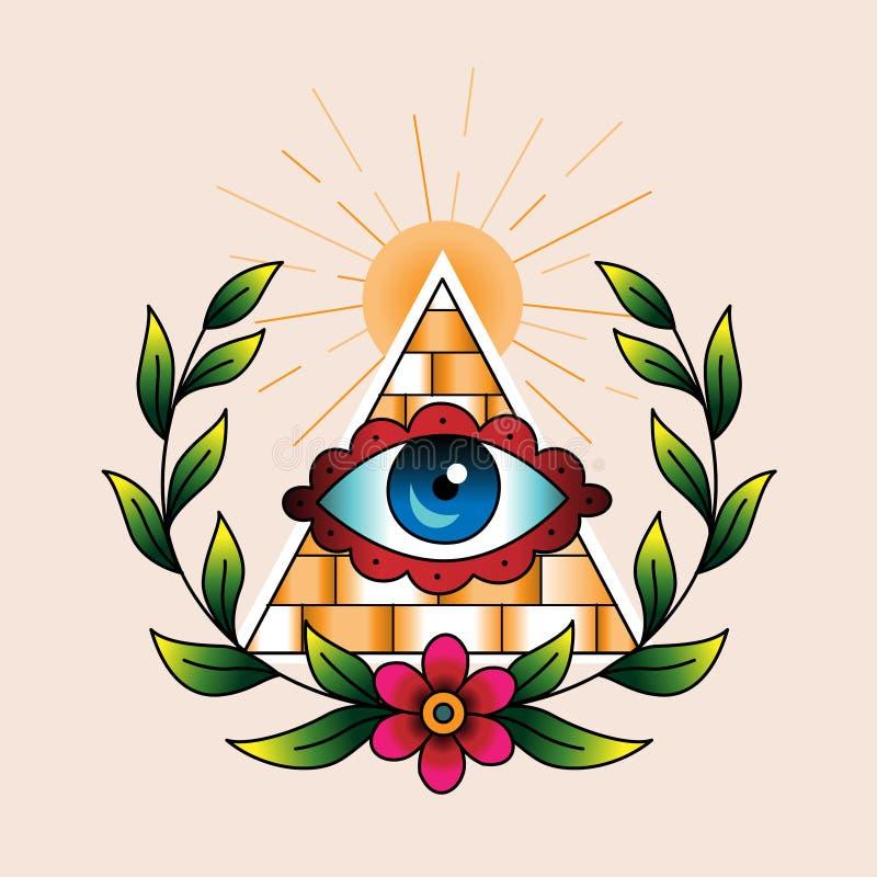Символ каменщиков иллюстрация штока