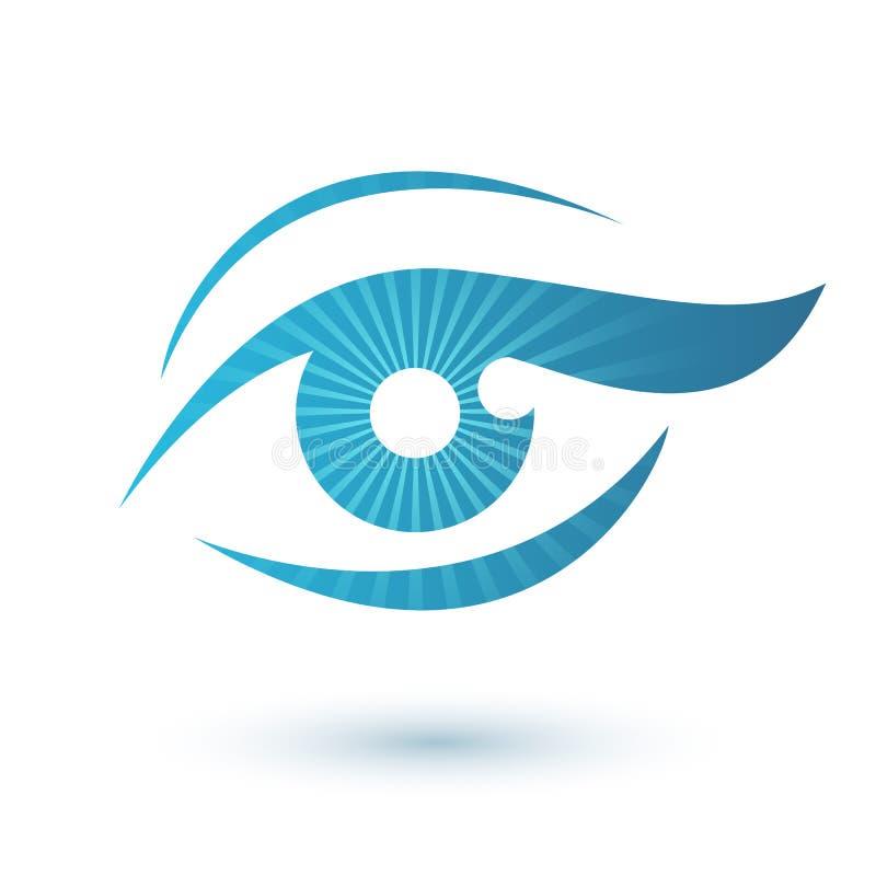 Символ красоты логотипа глаза женщины стоковые изображения