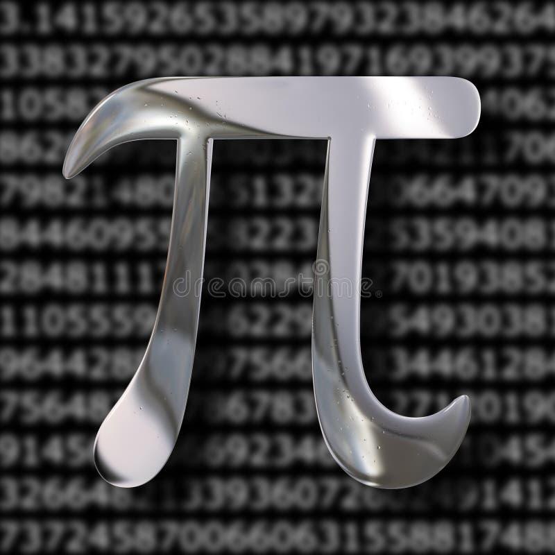 Символ математики Pi иллюстрация вектора
