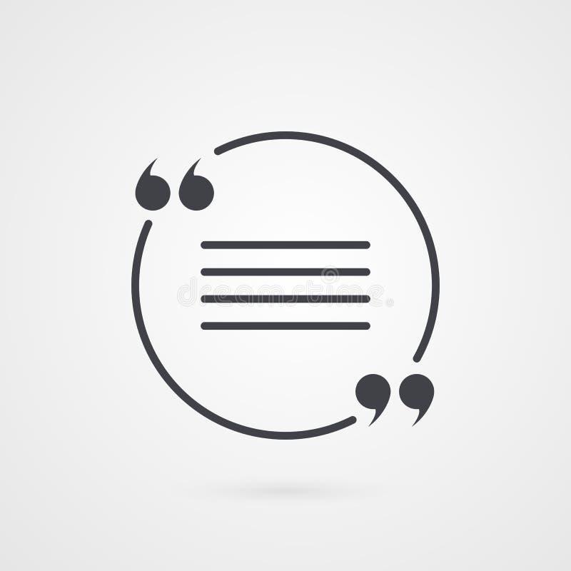Символ метки цитаты Значок вектора изолированный на предпосылке градиента бесплатная иллюстрация