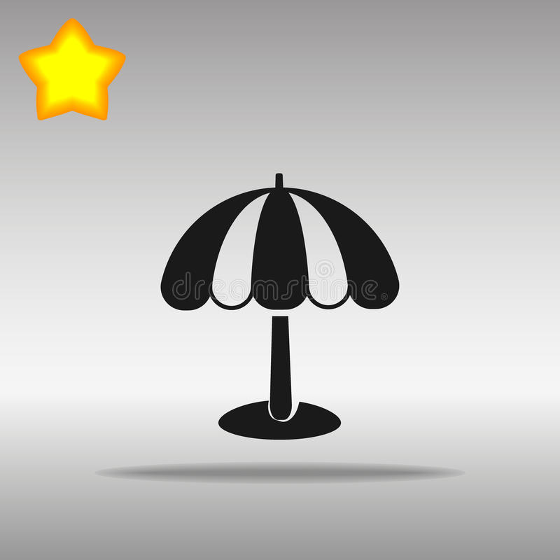 Символ логотипа кнопки значка черноты зонтика пляжа бесплатная иллюстрация