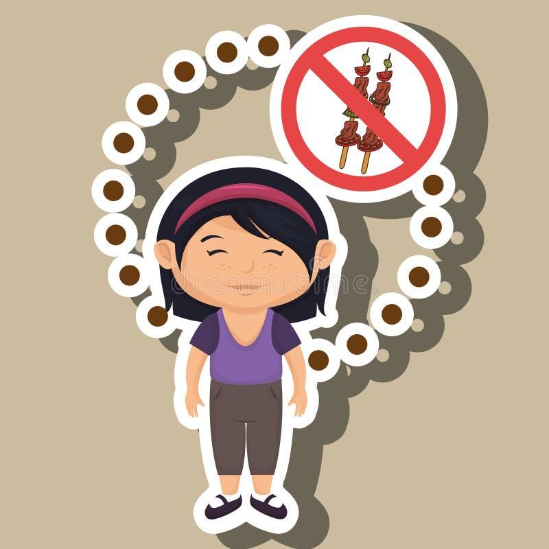 символ опасности фаст-фуда девушки ребенка шаржа бесплатная иллюстрация