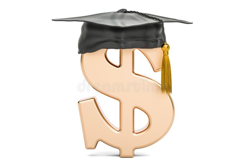 Символ доллара с крышкой градации, переводом 3D бесплатная иллюстрация