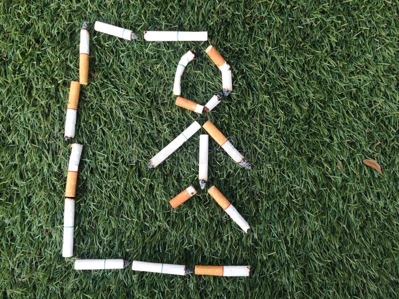 символ палача от сигареты стоковое изображение