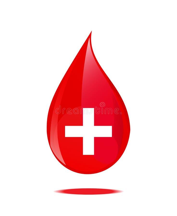 Символ падения крови иллюстрация вектора