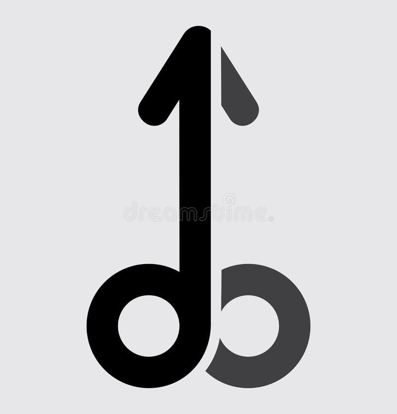 Символ пениса иллюстрация вектора