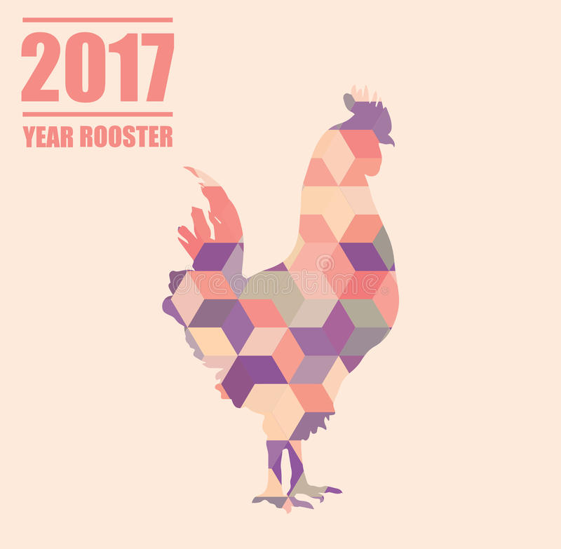 Символ петуха 2017 год в китайском календаре бесплатная иллюстрация