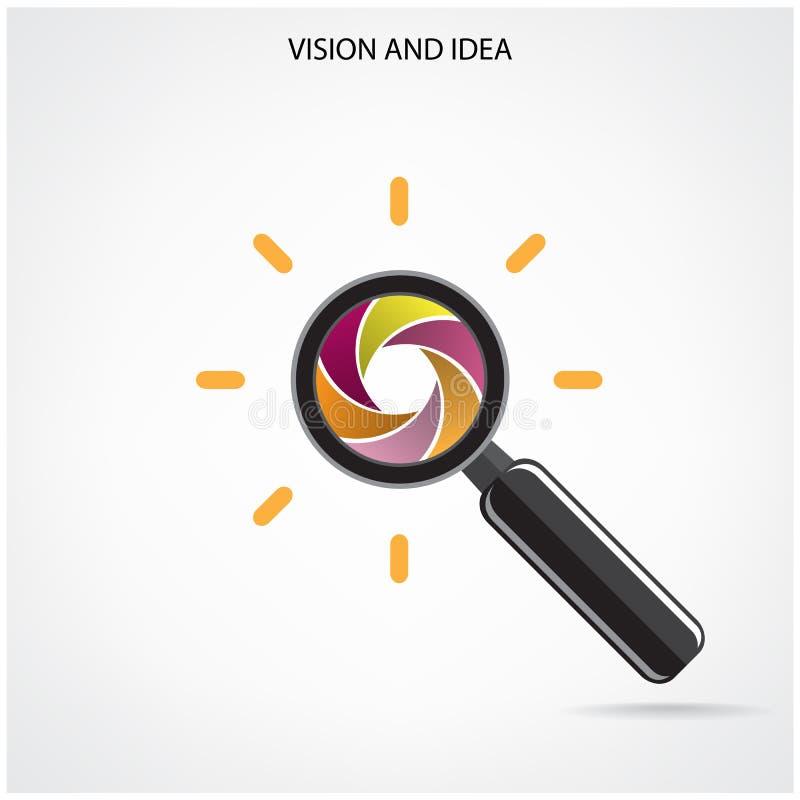 Символ поиска и зрения, идеи дела иллюстрация штока