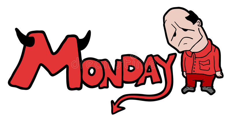 Символ понедельника иллюстрация штока