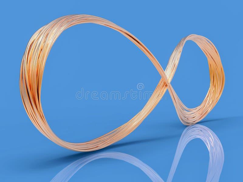 символ провода 3D бесконечный бесплатная иллюстрация