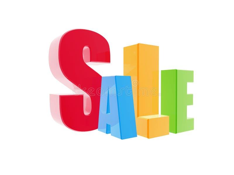 Download символ продажи 3d иллюстрация штока. иллюстрации насчитывающей красно - 40591834