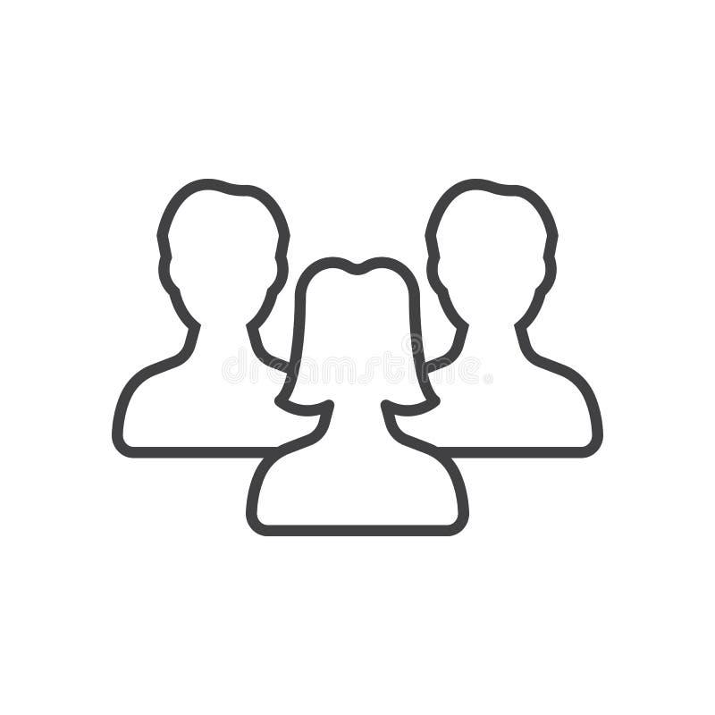 Символ руководства ` s женщин, люди выравнивает значок иллюстрация вектора