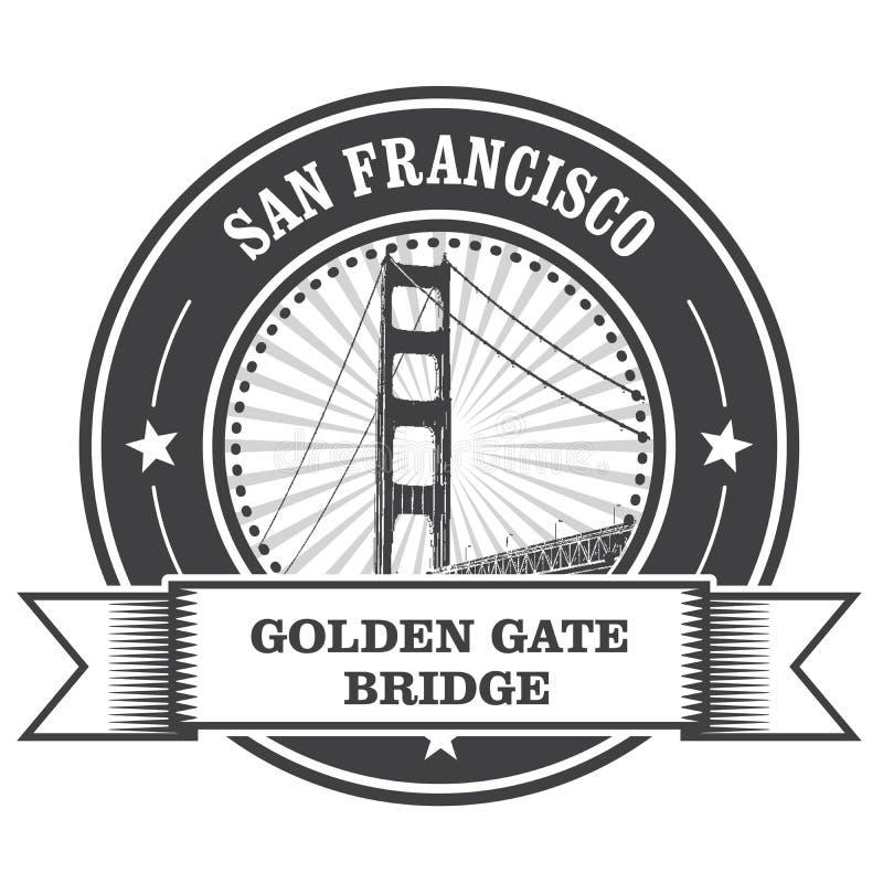 Символ Сан-Франциско - мост золотого строба бесплатная иллюстрация