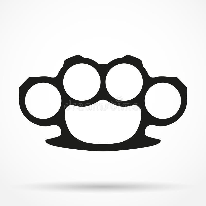 Символ силуэта простой вектора Brassknuckles иллюстрация штока
