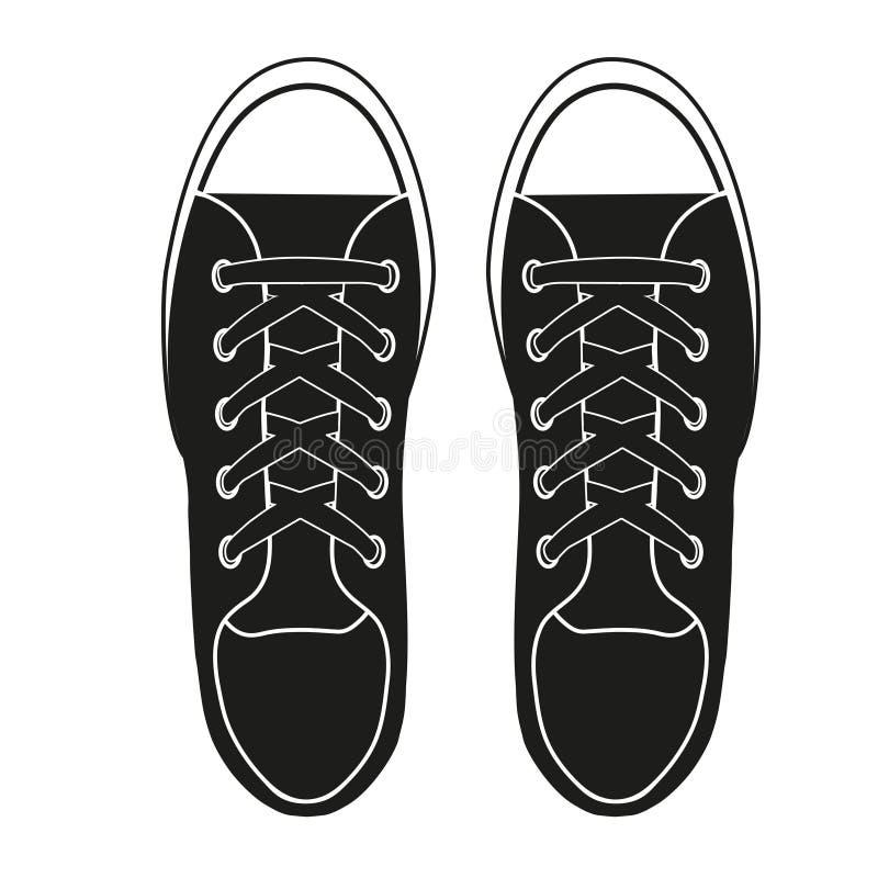 Символ силуэта простой тапок gumshoes бесплатная иллюстрация