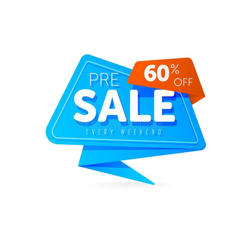 Символ скидки бирки продажи специального предложения иллюстрация вектора