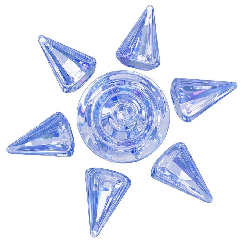 Символ Солнця льда иллюстрация вектора