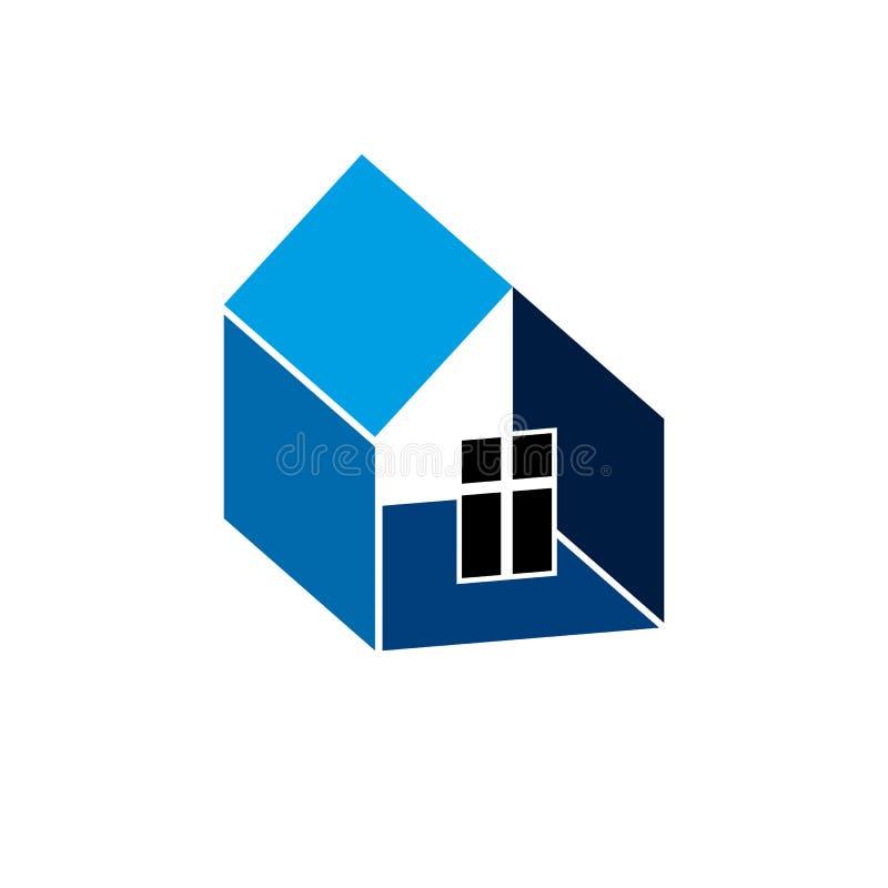 Символ строительной фирмы абстрактный, строя корпорация иллюстрация вектора