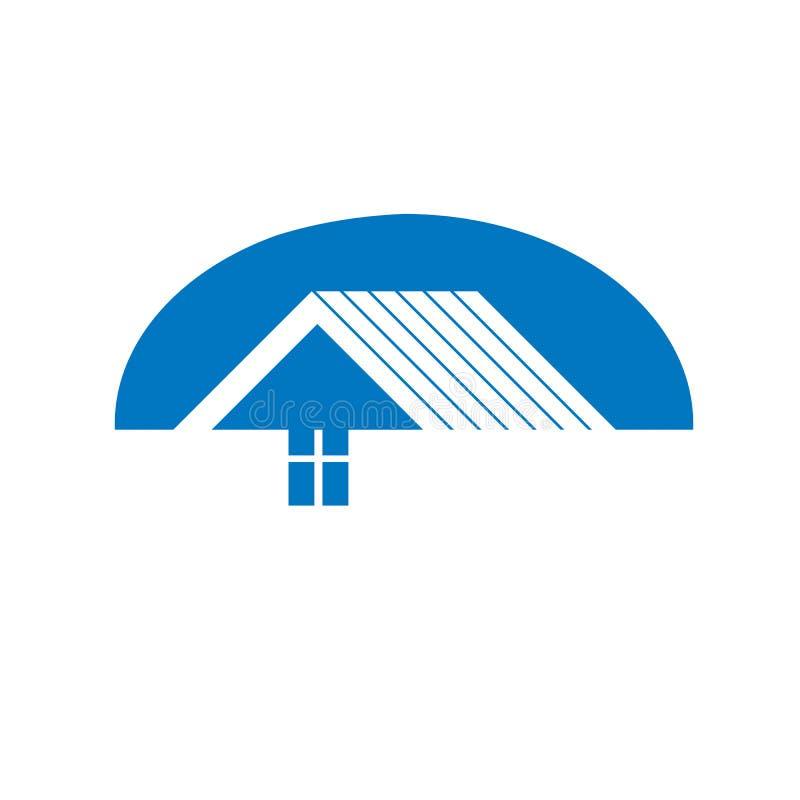 Символ строительной фирмы абстрактный, строя корпорация Hous иллюстрация штока