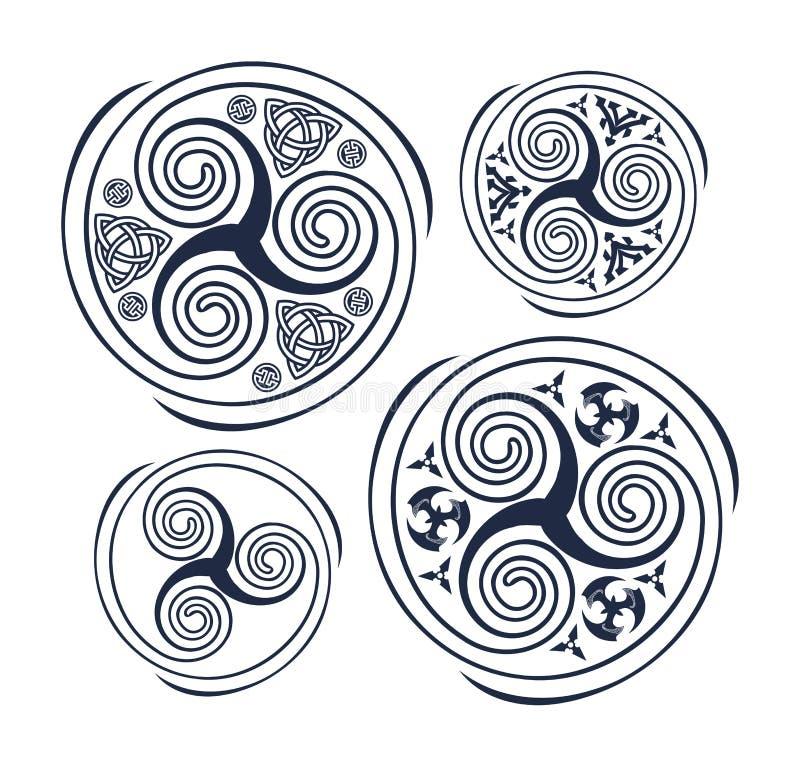 Символ троицы иллюстрация вектора
