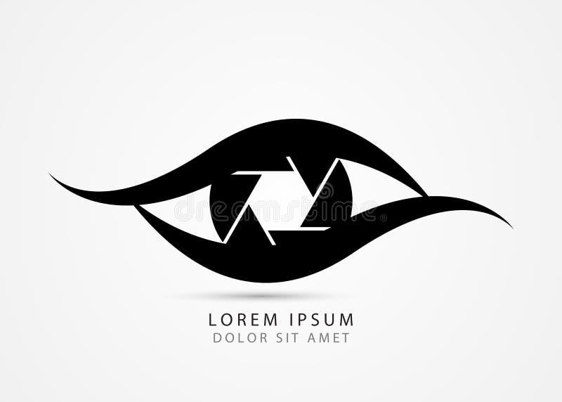 Символ фотографа Современный творческий глаз вектор иллюстрация вектора