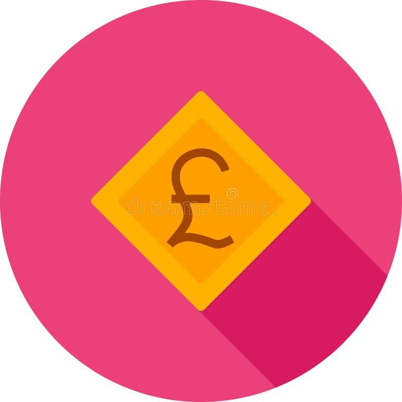 Символ фунта иллюстрация штока