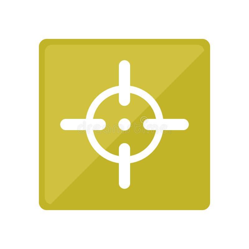 Символ цели для того чтобы увольнять оружие точно иллюстрация штока